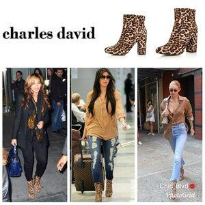 🆕️Charles David Leopard Calf Hair Booties